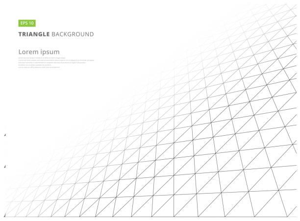 abstrakte struktur geometrischen dreieck muster weiß unendlich hintergrund. - gitter stock-grafiken, -clipart, -cartoons und -symbole