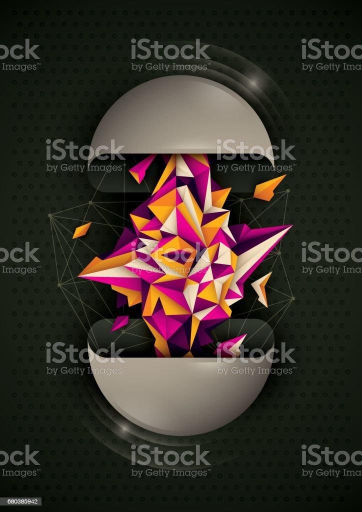 Abstract style illustration. vector art illustration