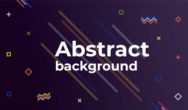 Abstract Style Poster. Abstract Minimal geometric background. vector art illustration