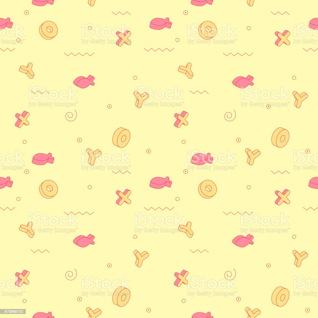 Abstract Style Seamless Pattern With Geometric Shapes