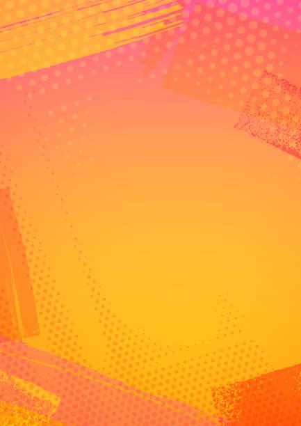Abstract summer background frame vector art illustration