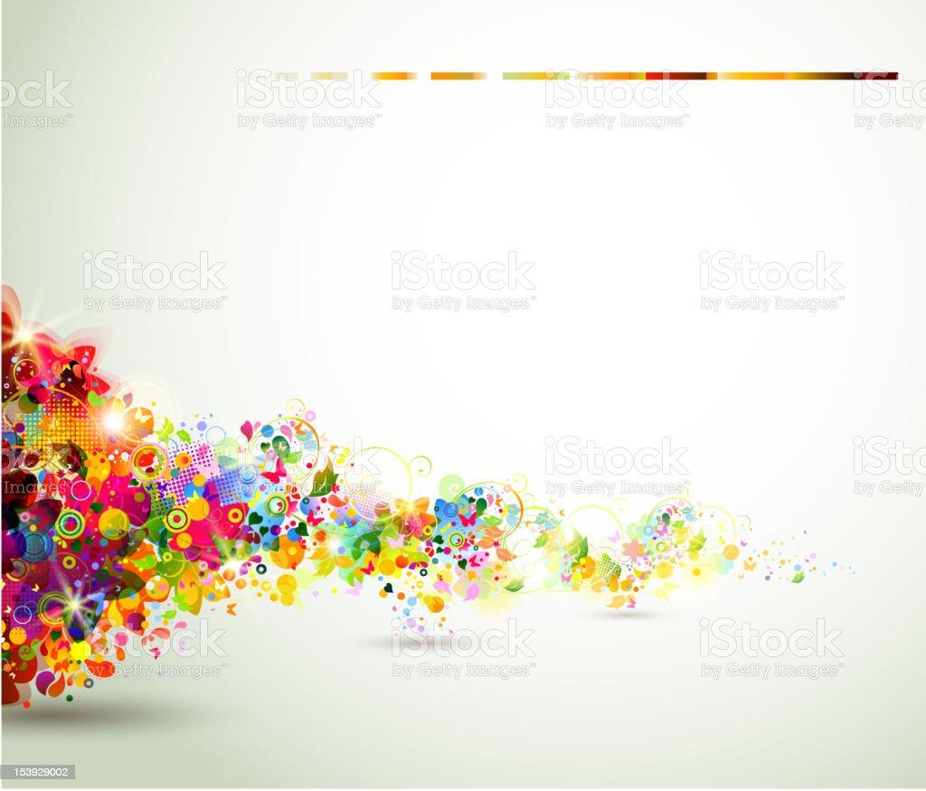 abstract summer  composition vector art illustration