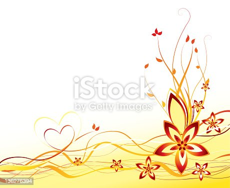 Vector illustration abstract summer flower background