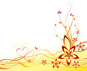 Vector illustration abstract summer flower background