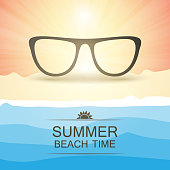 Abstract Summer Party Card or Cover Template