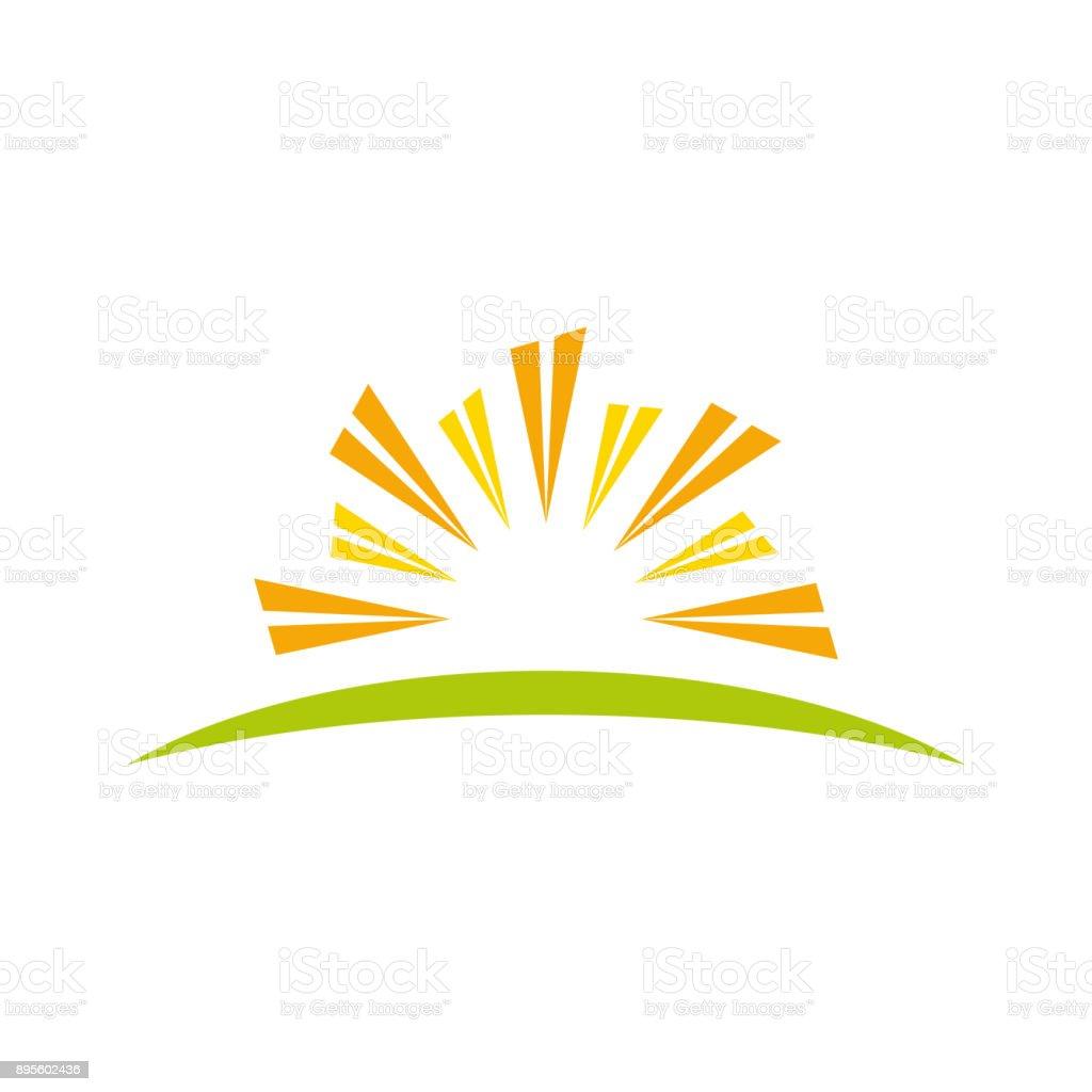 Abstract sun property symbol vector art illustration