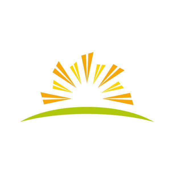 abstract sun property symbol - sunrise stock illustrations, clip art, cartoons, & icons