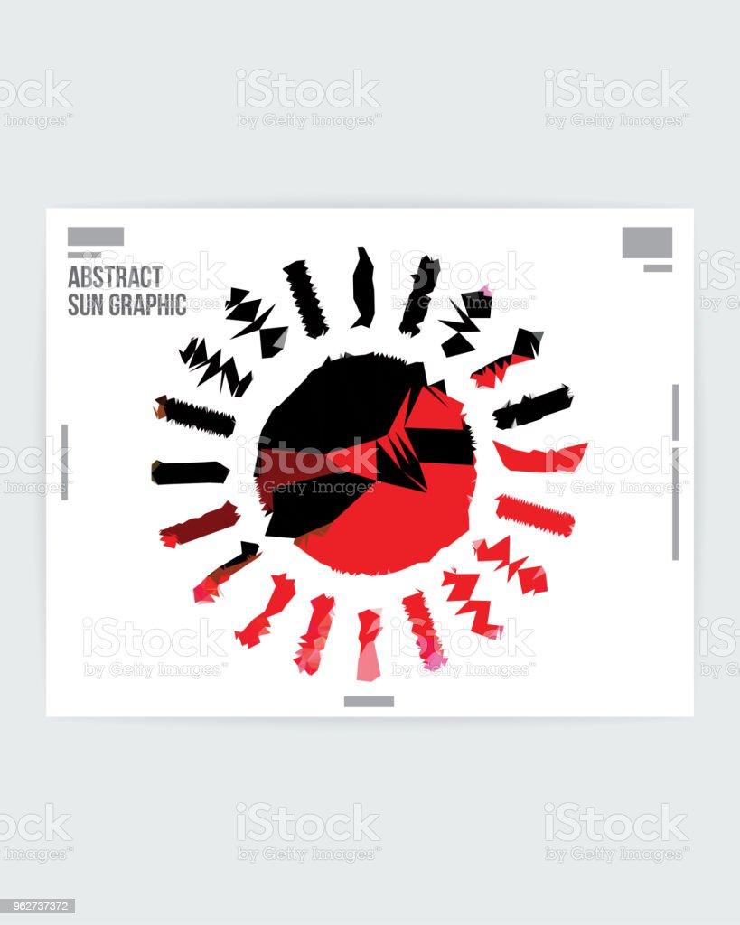 Abstract Sun Symbol Graphic Design Poster Layout Template - arte vettoriale royalty-free di A forma di stella