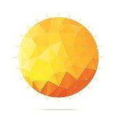 Sun polygonal geometric figure.