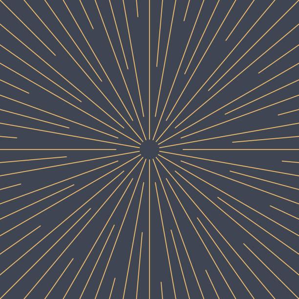 Abstrakte Sunburst oder Sonnenstrahlen leeren Hintergrund im flachen dünnen Stil. Leere retro Vintage Kulisse im quadratischen Format. Grafik Design-Element wird als ein Vektor-Illustration gespeichert. – Vektorgrafik