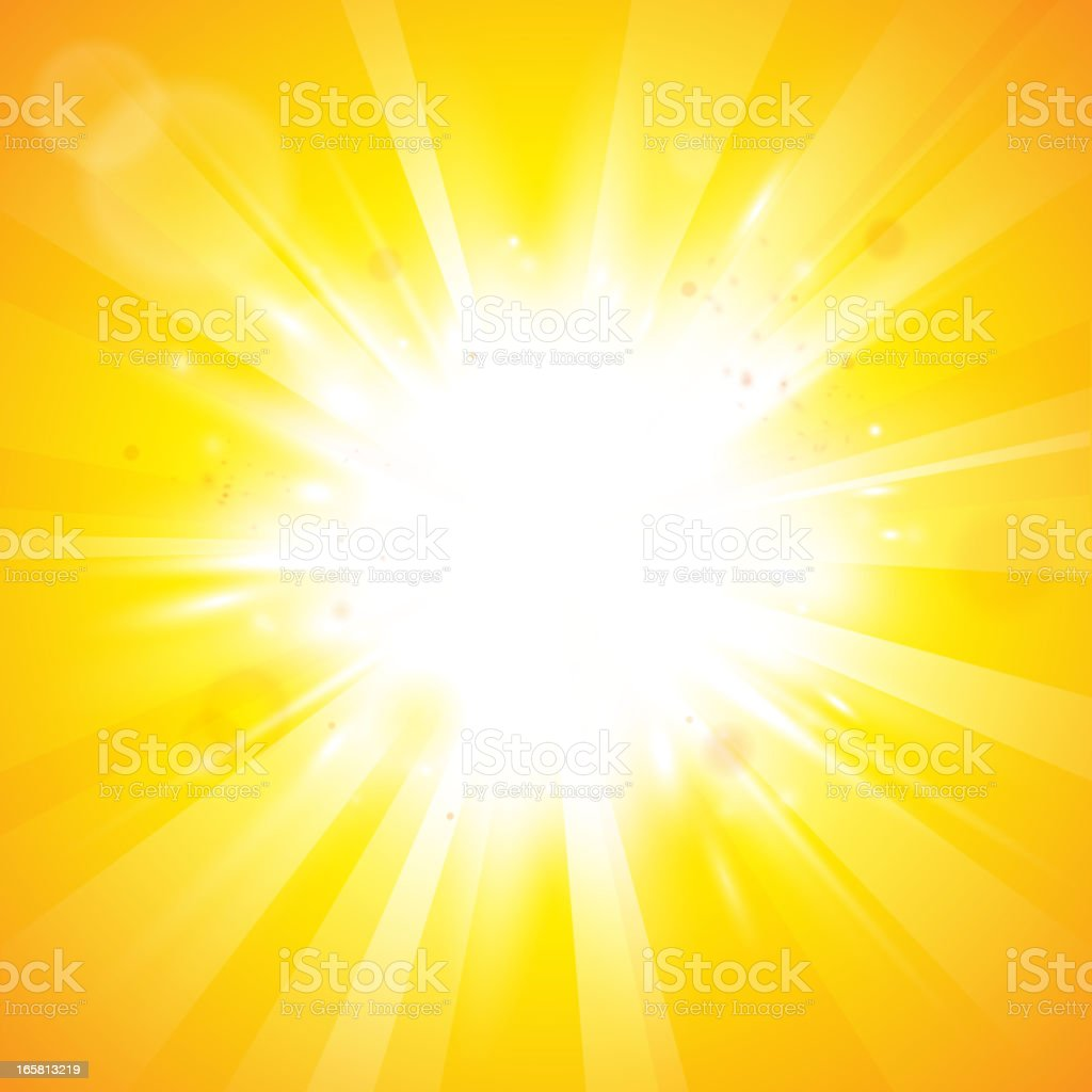 Abstract sunny background vector art illustration