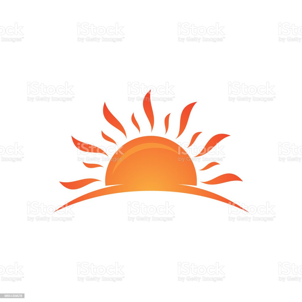 Abstract sunset set vector isolated summer icon design - Grafika wektorowa royalty-free (Abstrakcja)