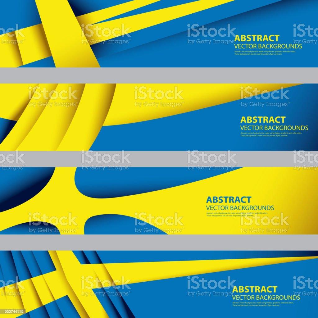 Abstract Sweden Flag, Swedish National Colors (Vector Art) vector art illustration