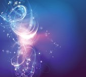 A modern abstract light swirl background with electric vortex shapes