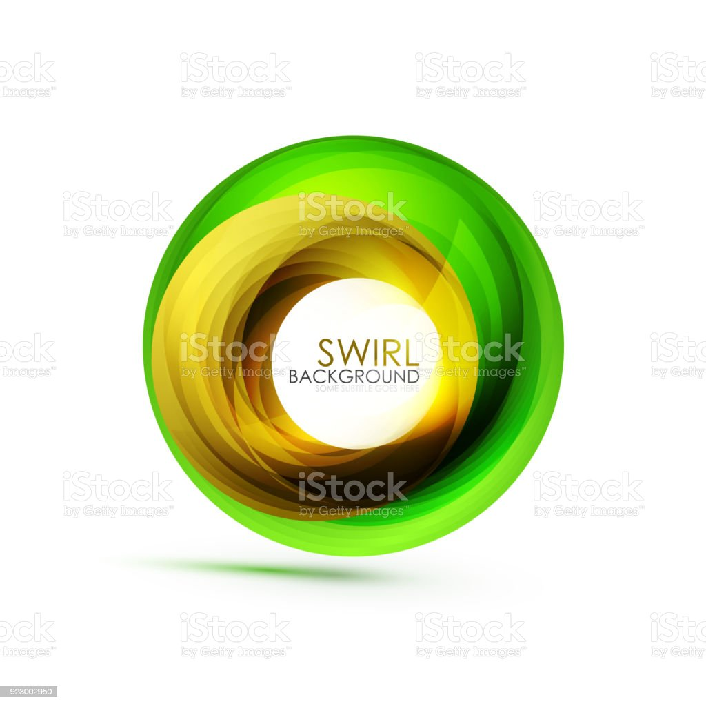 Abstract Swirl Banner Circle Vector Abstract Background With