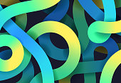 Abstract swirl curve gradient path background pattern.