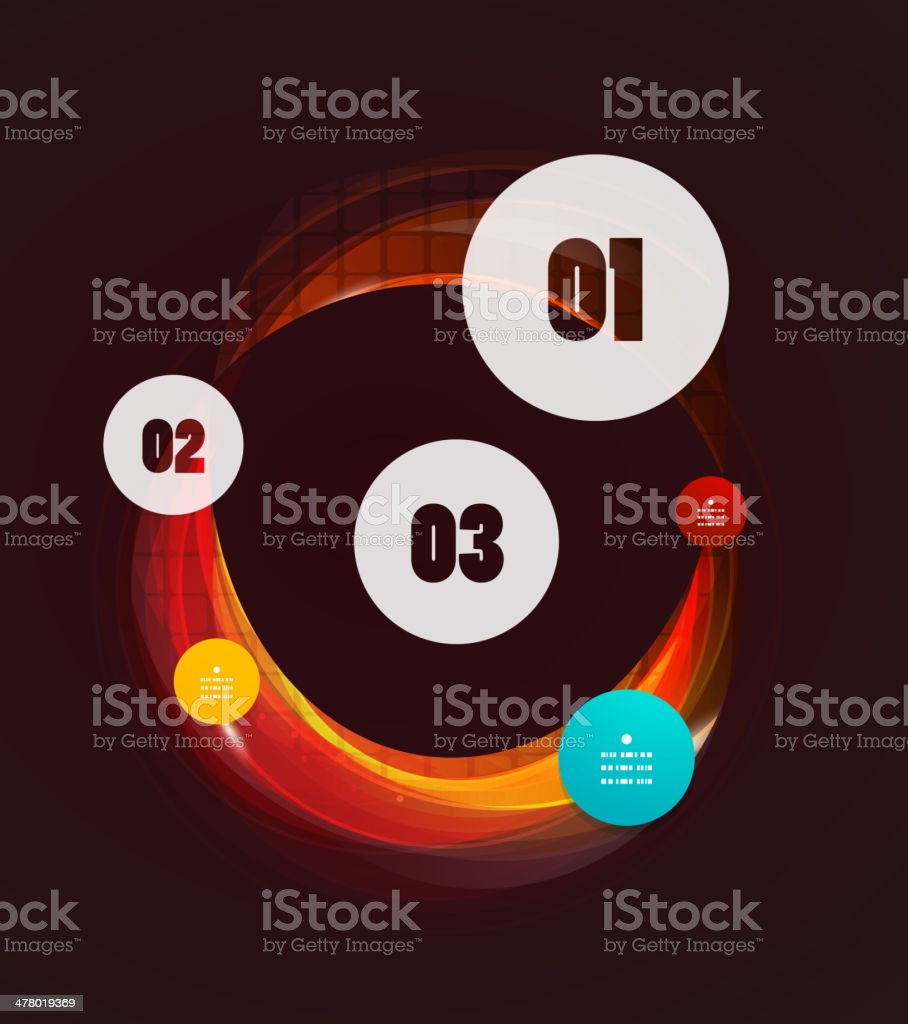 Abstract swirl infographic design royalty-free stock vector art