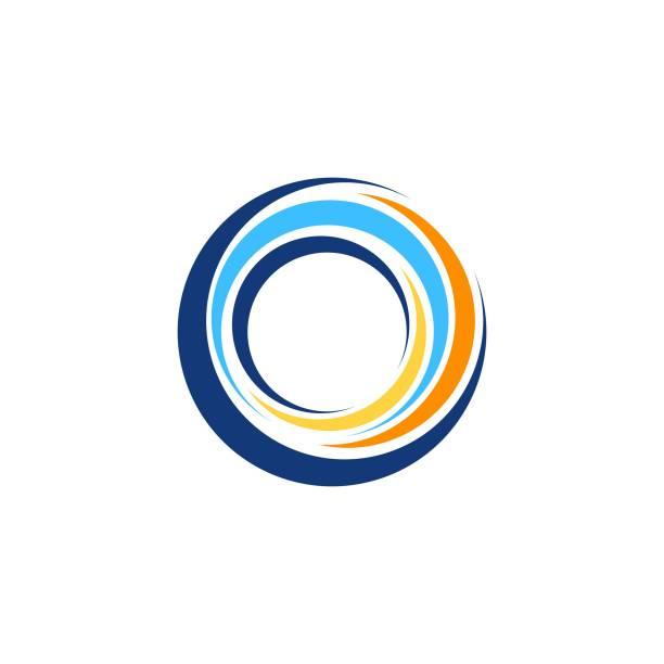 абстрактный вихрь круглый символ логотипа значок глобального круга сфера элементов логотип символ значок вектор дизайн - закрученный stock illustrations