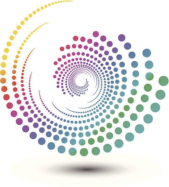 abstract swirl shape, design element illustration - spiral stock illustrations, clip art, cartoons, & icons