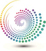 Abstract swirl shape, design element illustration