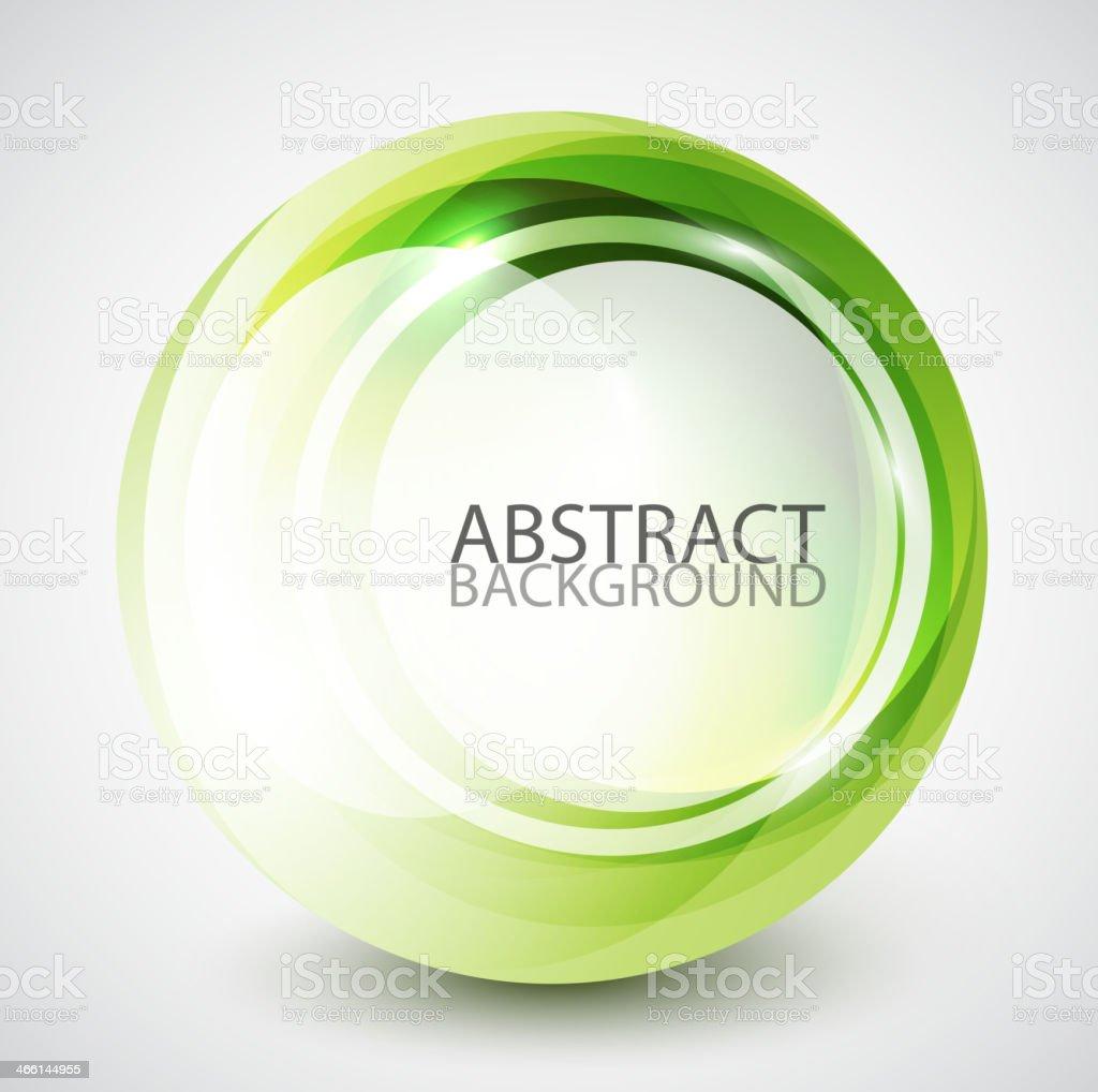 Remolino abstracto fondo de esfera - ilustración de arte vectorial