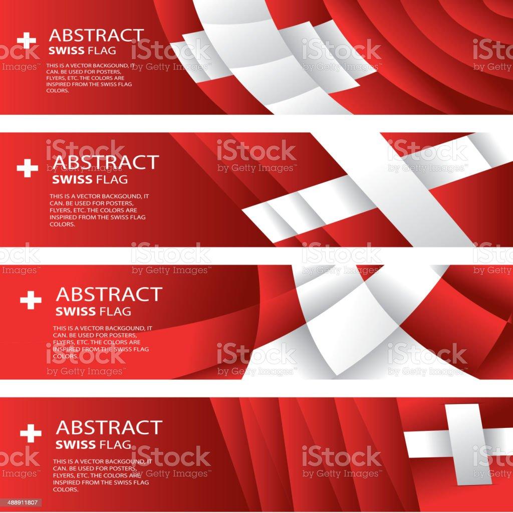 Abstract Switzerland, Swiss Flag (vector Art) vector art illustration