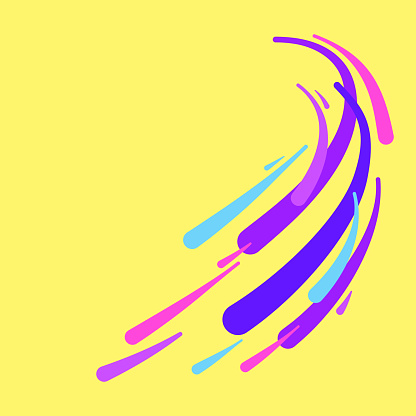 Abstract Swoosh Swoop Motion Lines