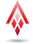 Abstract Symbol of Letter A with Diamond Shaped Rectangles