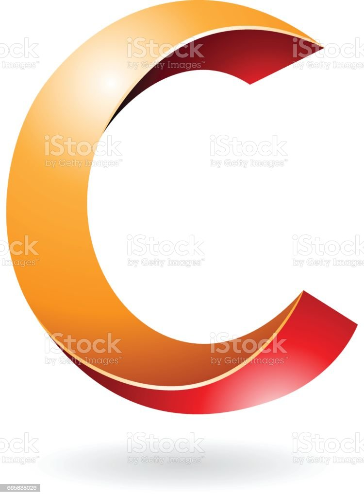 Abstract Symbol Of Letter C Stock Vector Art More Images Of
