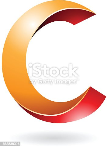Abstract Symbol Of Letter C