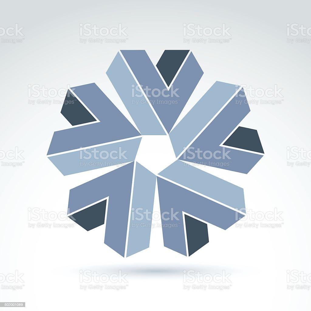 Abstract symbol, vector graphic design element, icon. vector art illustration