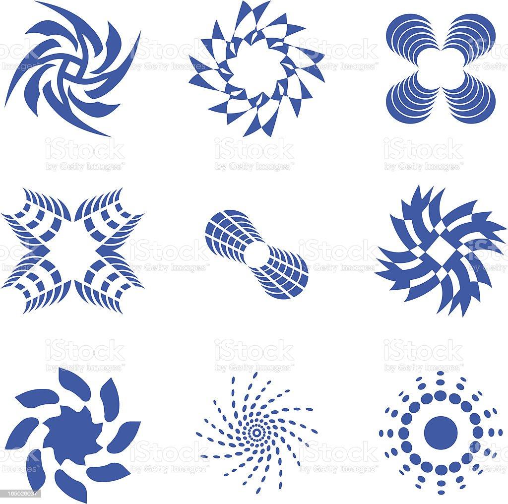 Abstract Symbols 3 - vector royalty-free stock vector art