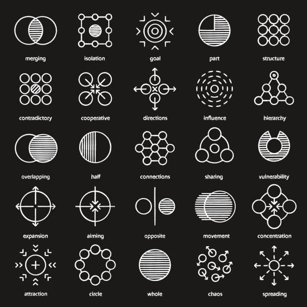 ilustrações de stock, clip art, desenhos animados e ícones de abstract symbols icons - inteiro