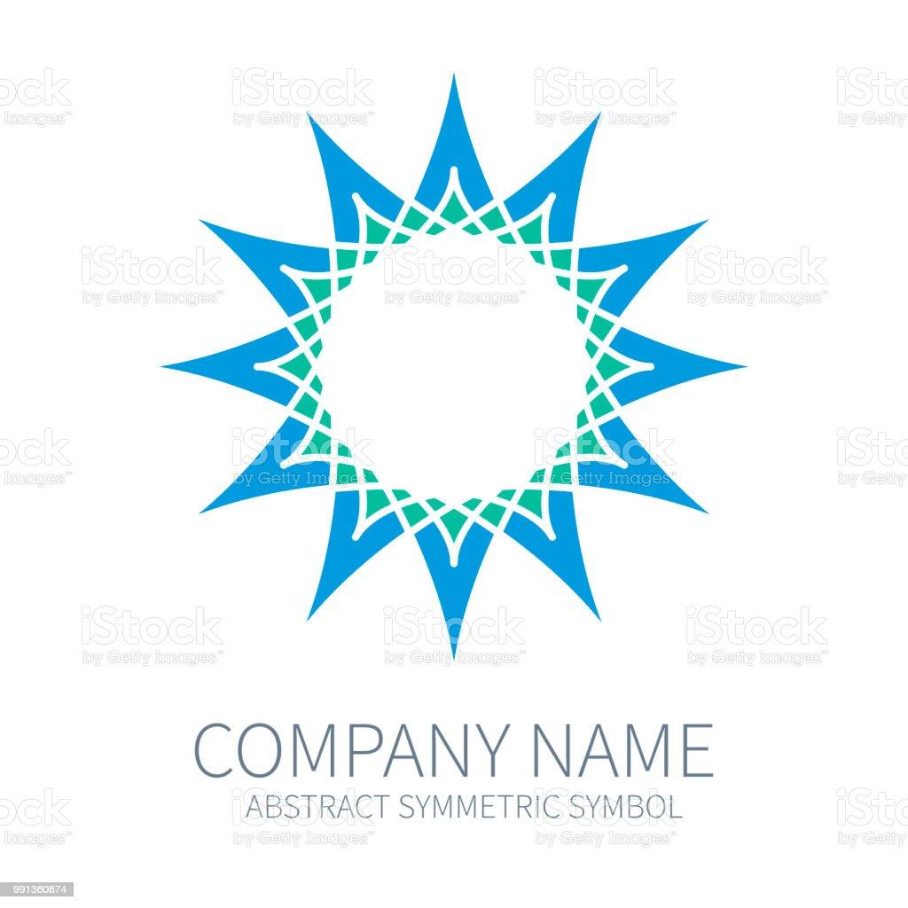Logo De Cercle De Symétrie Abstraite Forme De Polygone Harmonie
