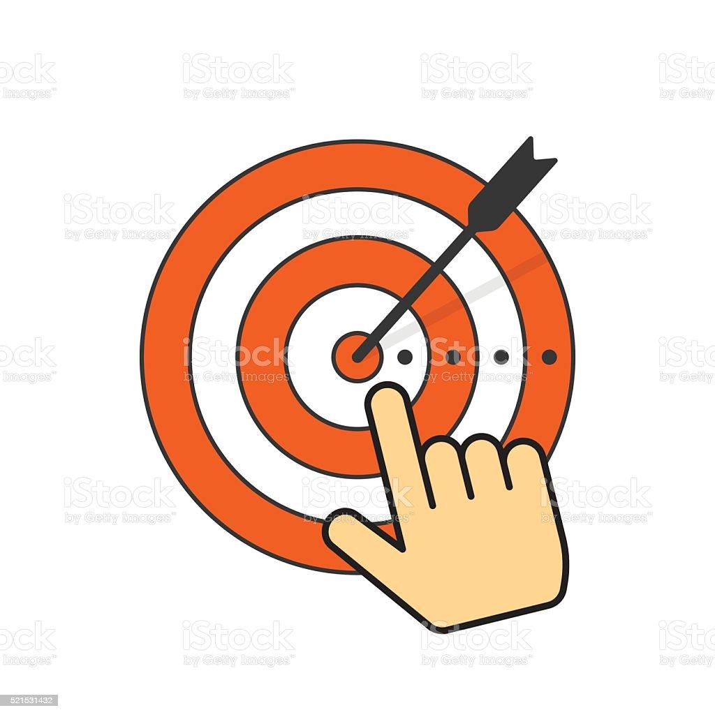 Ilustración de Resumen Objetivo Icono Y Flecha En Objetivo Centro ...