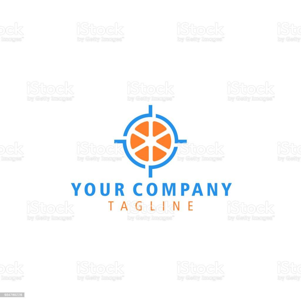 Ilustración de Resumen Objetivo Fruto Blanco Naranja Elemento De ...