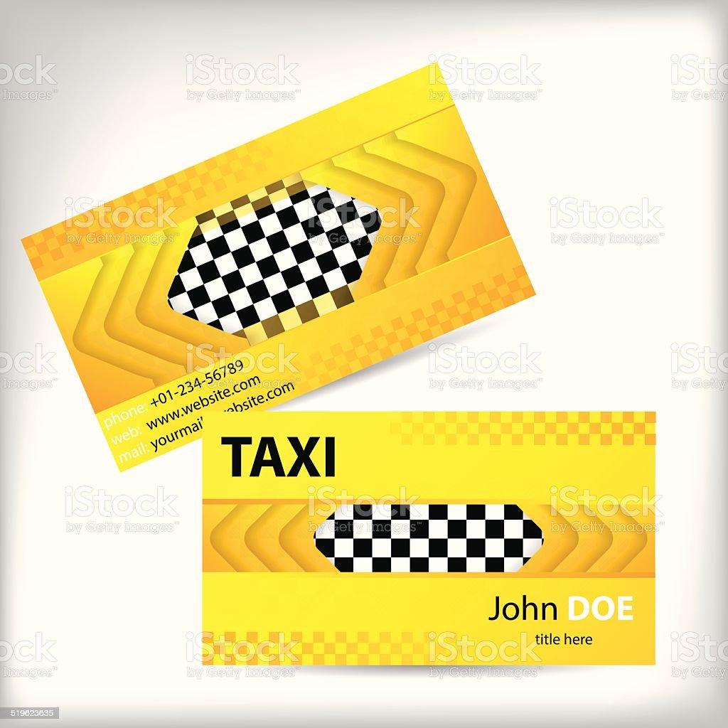 Abstrait Design De Carte Visite Taxi Cliparts