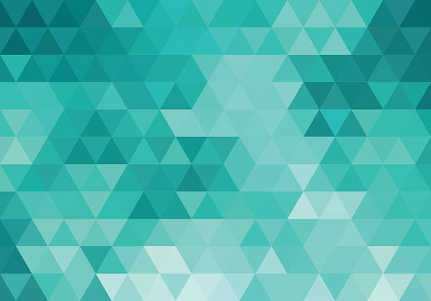 abstract teal geometric background, vector abstract teal geometric vector background, triangle pattern triangle shape stock illustrations