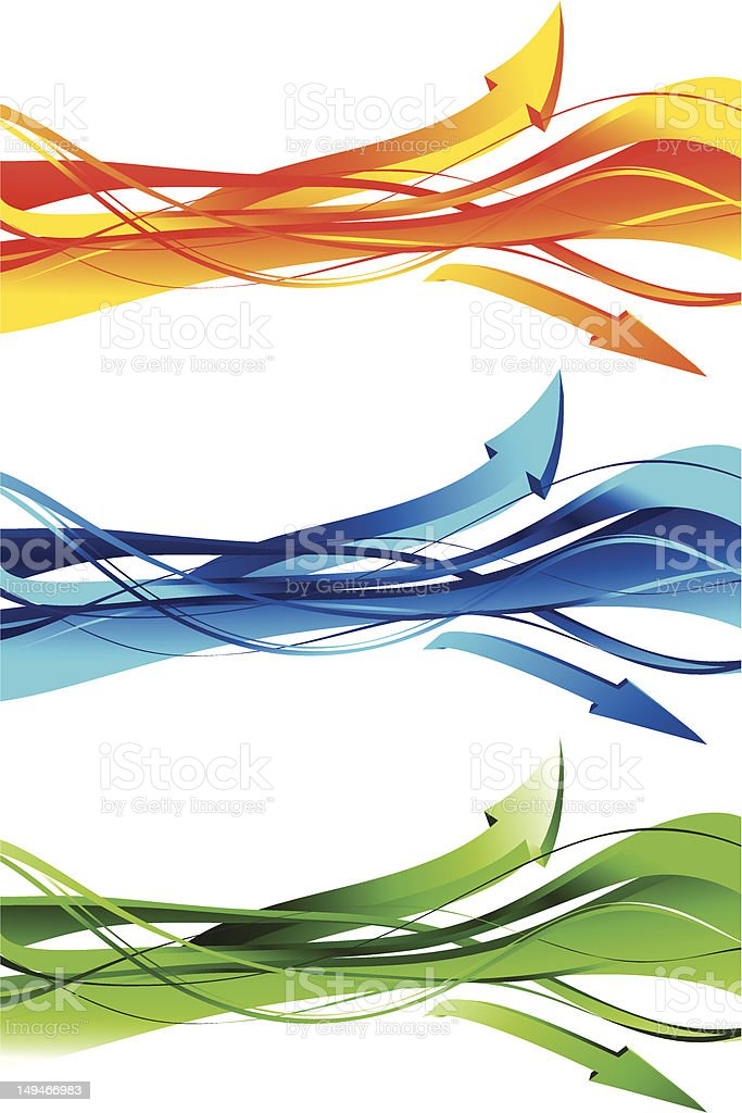 Abstract tech arrow wave royalty-free stock vector art