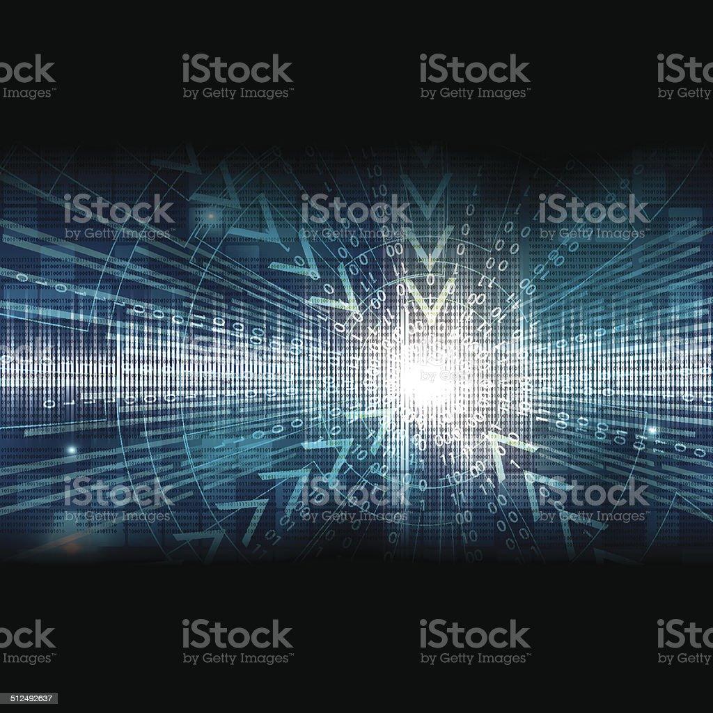 Abstract tech binary background vector art illustration