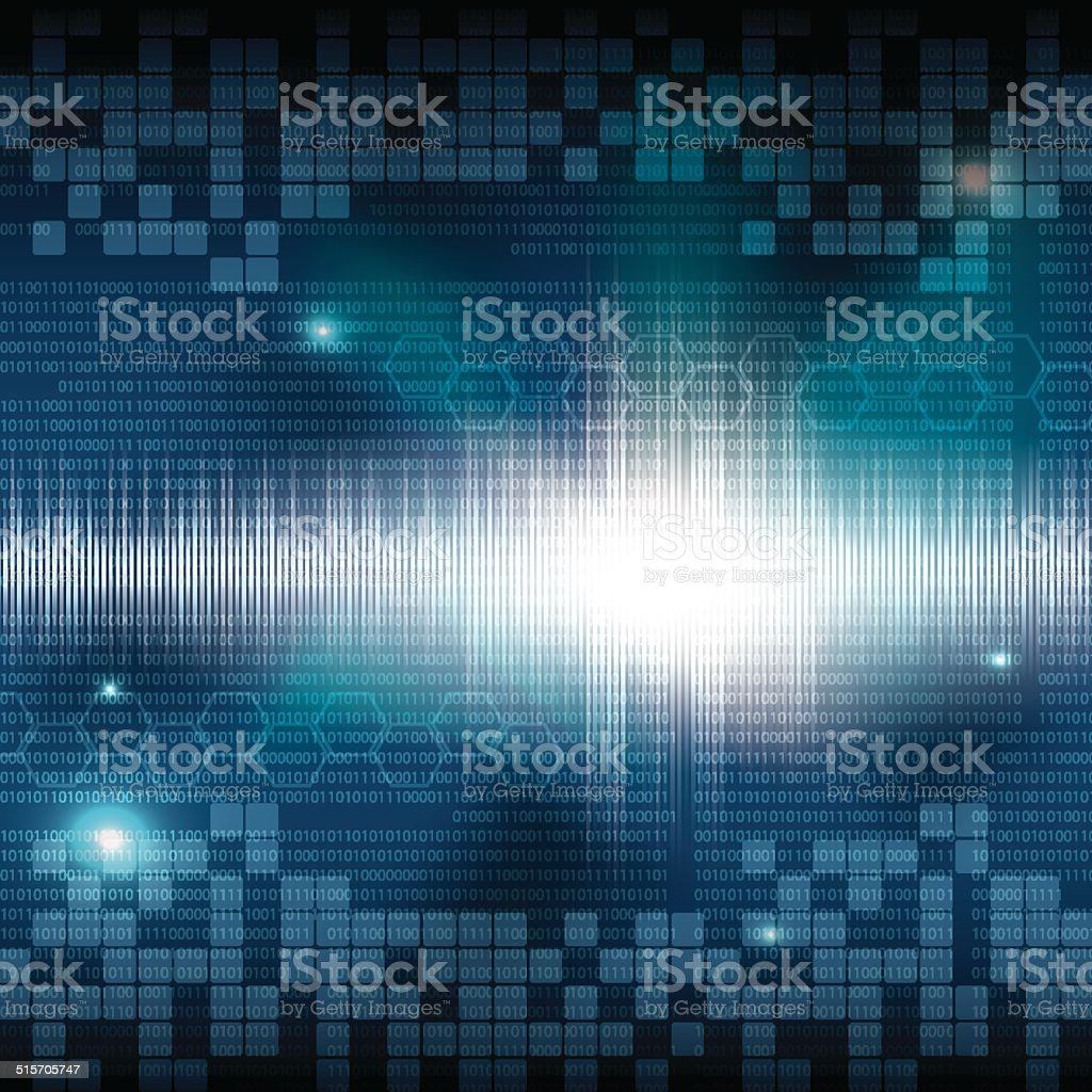 Abstract Tech Binary Background Stock Illustration