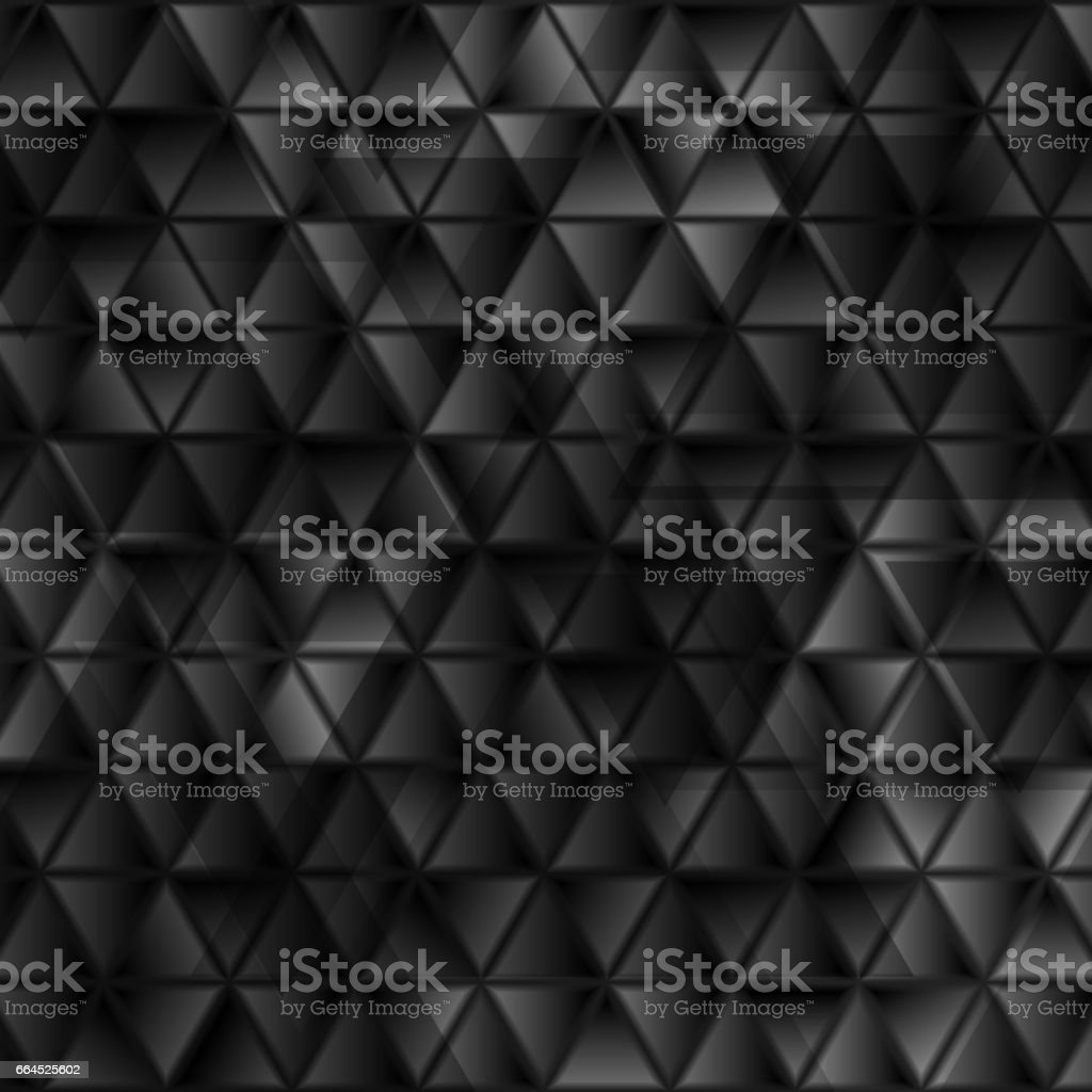Abstract tech black glossy triangles geometric background vector art illustration