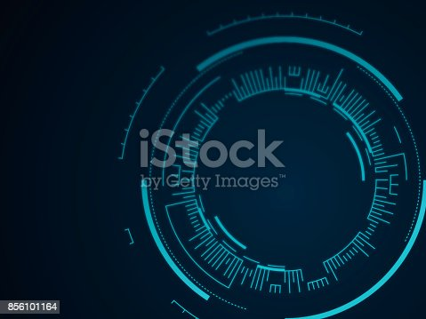 istock Abstract Tech Circle Background 856101164