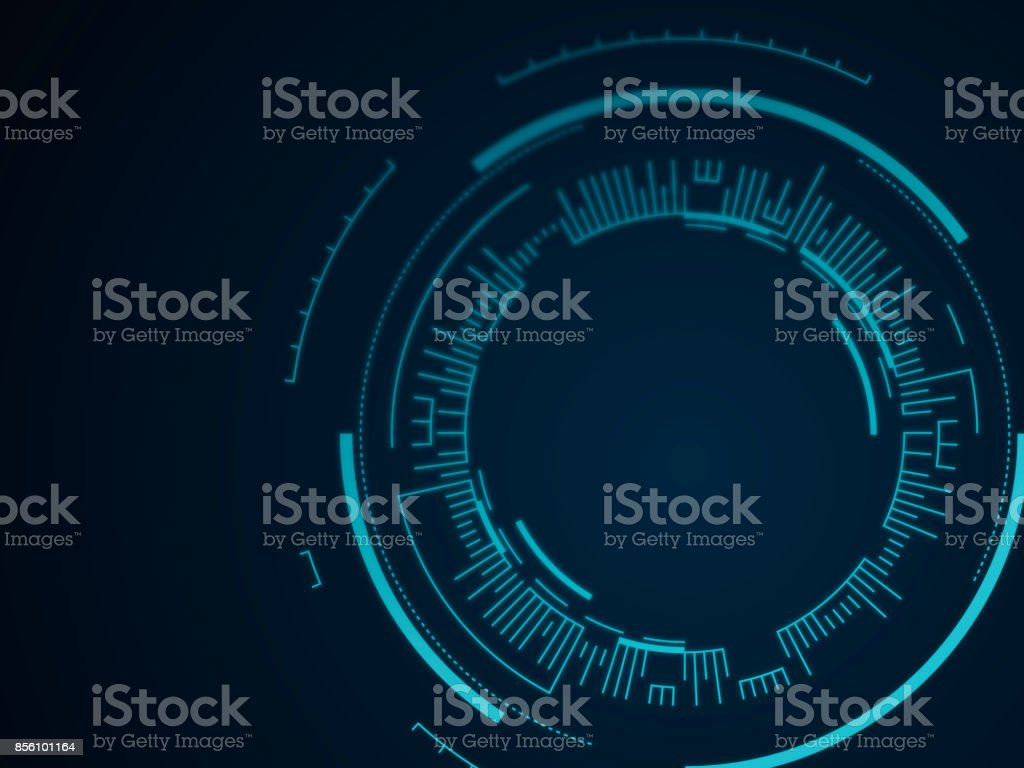Abstract Tech Circle Background vector art illustration
