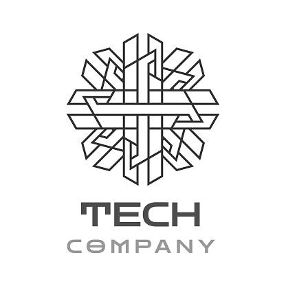 Abstract Tech Company Mandala Template