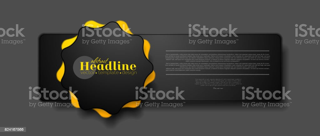 Abstract tech concept web sticker label design vector art illustration
