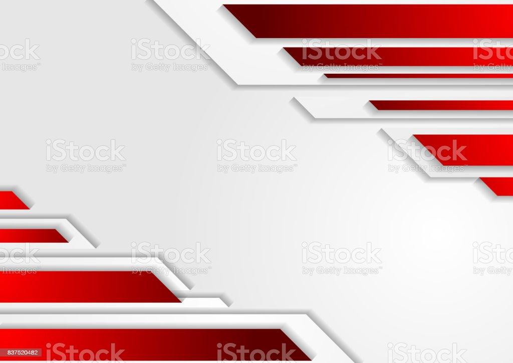 Abstract tech corporate red grey background vector art illustration