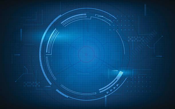 abstract tech digital communication innovation concept background – Vektorgrafik