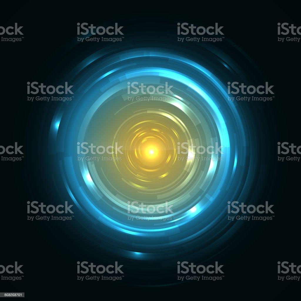 Abstrakte Tech-Element wie ein Glas.  Vektor-Illustration. – Vektorgrafik