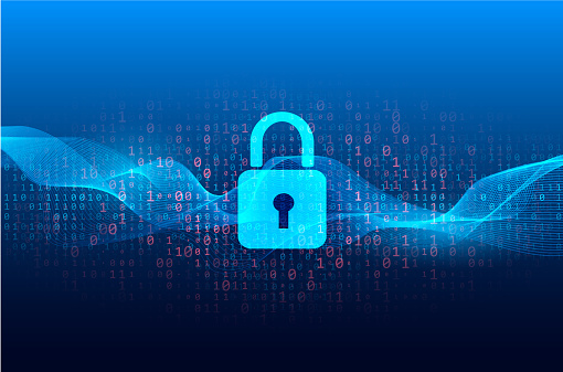 Abstract technical background - lock